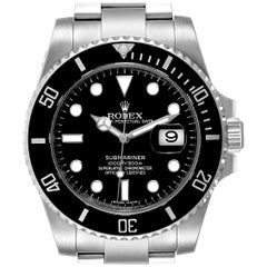 Rolex Submariner Ceramic Bezel Black Dial Steel Men's Watch 116610