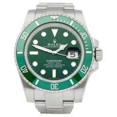 Rolex Submariner Date 116610LV Men's Stainless Steel Hulk Watch