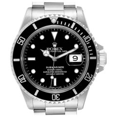 Rolex Submariner Date Stainless Steel Men's Watch 16610 Box Papers