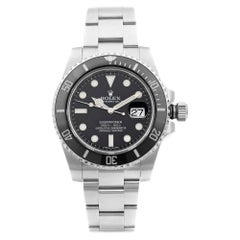 Rolex Submariner Date Steel Ceramic Bezel Black Dial Automatic Mens Watch 116610