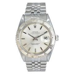 Rolex White Gold Stainless Steel Thunderbird Bezel Watch, from 1964
