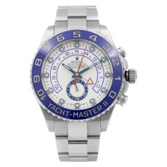Rolex Yacht-Master II Steel Ceramic Chronograph White Dia Mens Watch 116680-0002