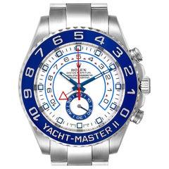 Rolex Yachtmaster II 44 Blue Cerachrom Bezel Men's Watch 116680 Box Card