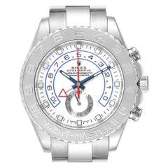 Rolex Yachtmaster II Regatta White Gold Platinum Watch 116689 Box Card