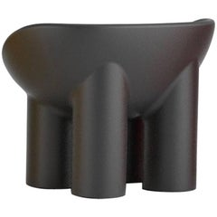 Roly Poly Polyethylene Armchair in Charcoal by Faye Toogood for Driade
