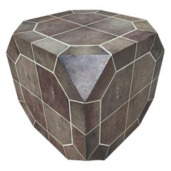 Ron Seff Shagreen Bone Inlaid Dice Shaped Table