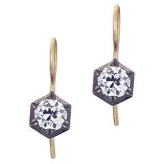 Hex Cut Down Diamond Earrings