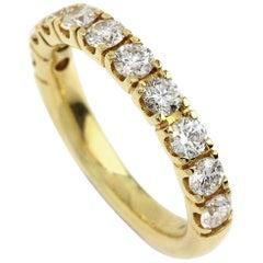 Yellow Gold Ten Diamond Eternity Ring