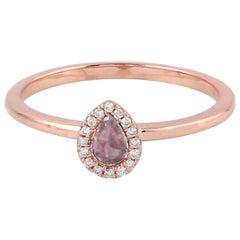 Rosecut Diamond 18 Karat Gold Ring