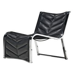 Rossi di Albizzate Lounge Chair in Leather and Chrome