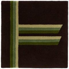"""""""Rowan"""" Tree Alphabet Brown & Green Wool Carpet or Tapestry by Rhyme Studio"""