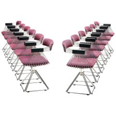 Rudi Verelst Twelve Chromed 'Delta' Chairs