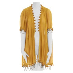 runway UNDERCOVER JUN TAKAHASHI SS07 yellow pom chain trimmed pleated jacket JP1
