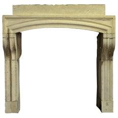 Rustic French Louis XIV Fireplace Mantel