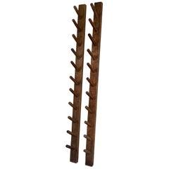 Rustic Industrial Pegged Pine Wall Racks
