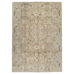 Rustic Mid-20th Century Handmade Persian Malayer Room Size Accent Rug