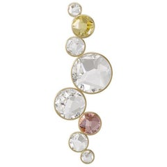 Salome Delight Crystal and Brass Contemporary Wall Light, Scone