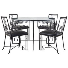 Salterini Style Art Deco Garden Dining Table and Chairs
