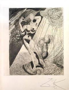 Aphrodite - Original Héliogravure and Drypoint by Salvador Dali - 1963