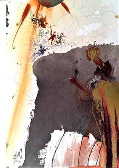 De Petra Exivit Aqua - Original Lithograph by S. Dalì - 1964