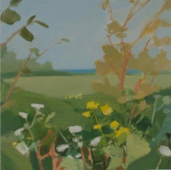 """Sara McCulloch """"Edge of the Road"""" -- Summer Landscape Oil Painting on Canvas"""