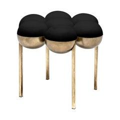 Saturn Small Pouffe, Black and Brass by Bohinc Studio Duplex Exclusive