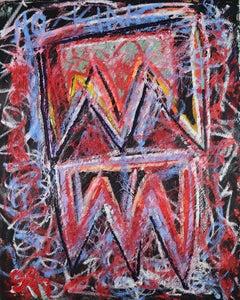 """No King"" (Dedicated To George Washington) Contemporary Painting"
