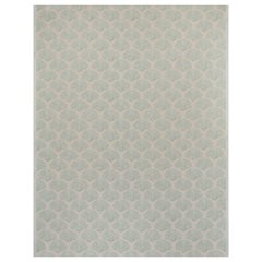 'Scallop Shell' Contemporary, Traditional Fabric in Plaster/Green