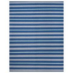 Schumacher Admiral Stripe Area Rug in Handwoven Wool, Patterson Flynn Martin
