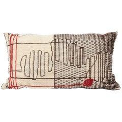 """Schumacher Artigianale Italian Handwoven Cactus Red 47"""" Oversized Floor Pillow"""