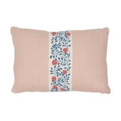 Schumacher Ashoka Tape and Piet Performance Linen Lumbar Pillow