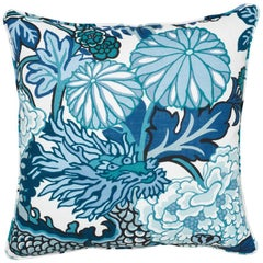 Schumacher Chiang Mai Dragon Indoor/Outdoor China Blue Two-Sided Pillow