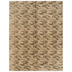 Schumacher Clouds Area Rug in Hand Knotted Wool Silk, Patterson Flynn Martin