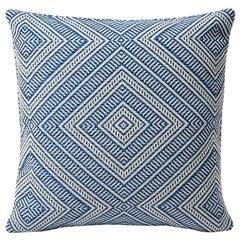 Schumacher Tortola Diamond Woven Indoor/Outdoor Two-Sided Pillow