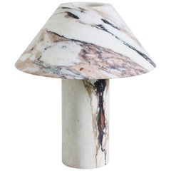 Sculpted Calacatta Marble Lamp by Henry Wilson