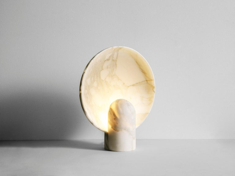 Sculpted Calacatta Viola Marble Lamp by Henry Wilson For Sale 4