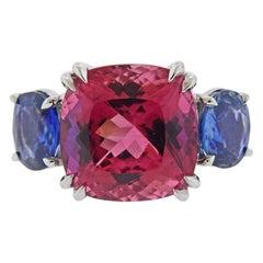 Seaman Schepps Sapphire Pink Tourmaline Gold Ring