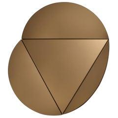 Segment Mirror, Modular Wall Mirror in Bronze, Custom Colors and Configurations