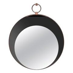 Sesto Senso Round Mirror with Metal Frame