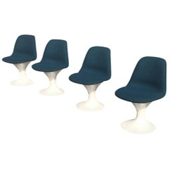 Set of Four Orbit Dining Chairs by Farner and Grunder for Herman Miller, 1960s
