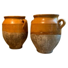 Set of 2 19th century French Confit Pots