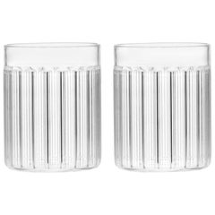 EU Clients Set of 2 Contemporary Czech Minimal Bessho Tumbler Glasses, in Stock