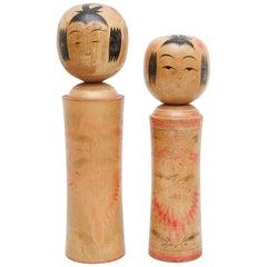 "Set of 2 ""Kokeshi"" Dolls"