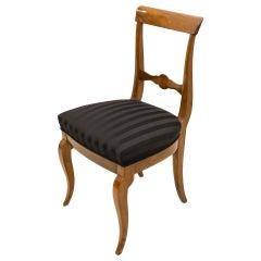 Set of 3 Walnut Biedermeier Chairs, Germany, 19th Century