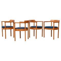 Set of 4 Henning Jensen & Torben Valeur Dining Chairs