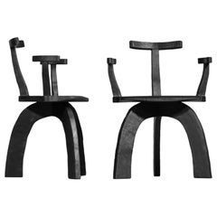 Set of 4 Modern Handcrafted Armchair 80/20 by Vincent Vincent