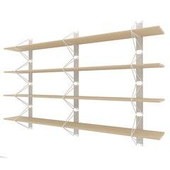 Set of 4 Strut Shelves from Souda, Modern White Wood Wall Shelf/Bookcase