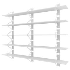 Set of 5 Strut Shelves from Souda, White, Modern Wood Wall Shelf or Bookcase