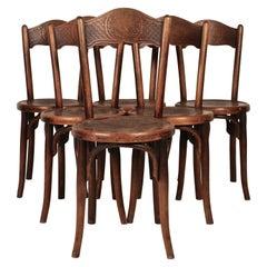 Set of 6 Bistro Chairs by Jacob & Josef Kohn, 1890 Austro-Hungarian Empire