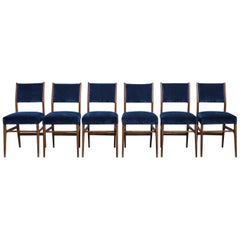 Set of 6 Gio Ponti Dining Chairs for Cassina, Italy, 1950s